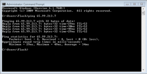 Command Prompt Ping Example